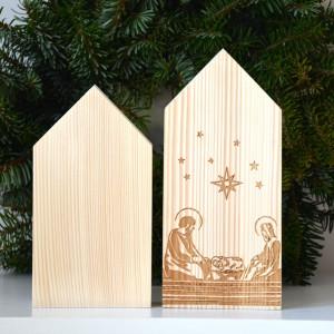 2 domki świąteczne