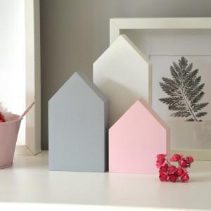 3 domki pastelowe