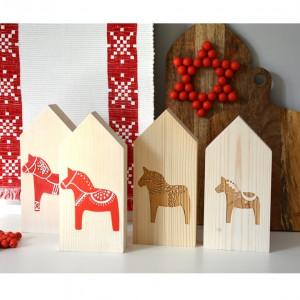 4 domki drewniane