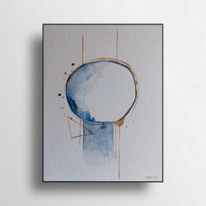 Abstrakcja-akwarela formatu 24/32 cm