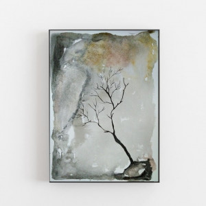 Abstrakcja-drzewo -akwarela