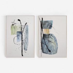 Abstrakcja-dwie akwarele każda formatu 24/32 cm