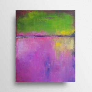 Abstrakcja  -obraz  akrylowy 50/60 cm