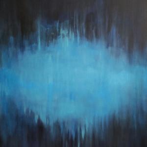 Abstrakcja -obraz akrylowy formatu 40/50 cm  cm