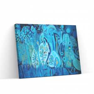 Abstrakcja obraz akrylowy Magiczny Las płótno
