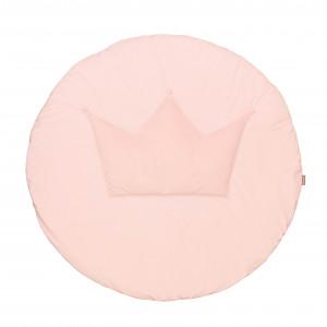 Aksamitna mata do zabawy z koroną - różowa