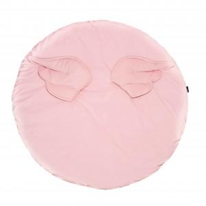Aksamitna mata do zabawy ze skrzydełkami- różowa