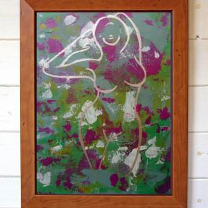 Akt, abstrakcja oryginalny obraz akrylowy