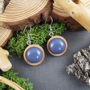 Albera 10 - kolczyki z drewna i żywicy