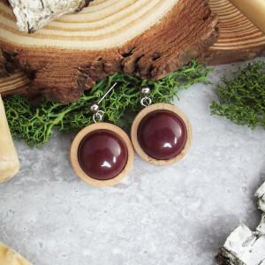 Albera 13 - kolczyki z drewna i żywicy
