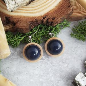 Albera 14 - kolczyki z drewna i żywicy