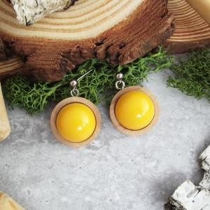 Albera 15 - kolczyki z drewna i żywicy