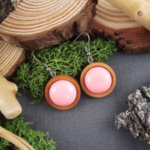 Albera 3 - kolczyki z drewna i żywicy