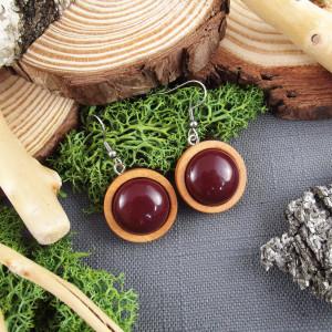 Albera 6 - kolczyki z drewna i żywicy