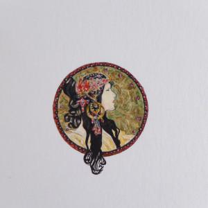 Alfons Mucha Głowy bizantyjskie, miniatura