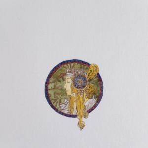 Alfons Mucha Głowy bizantyjskie, secesja