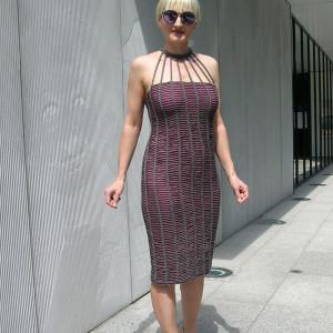 Ametyst- sukienka ażurowa