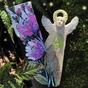 Anioł  Ceramiczny i Zakładka do książki Akwarela