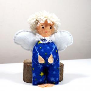 Aniołek filcowy w gwiazdki