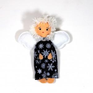 Aniołek filcowy w śnieżynki
