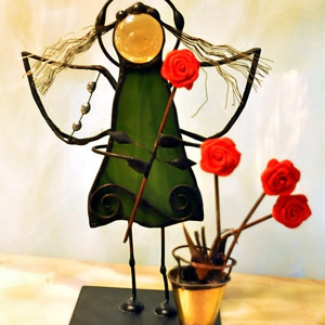Aniołek kwiaciarka