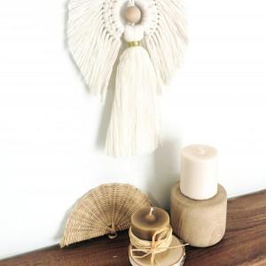 Aniołek makrama, zawieszka na prezent chrzciny