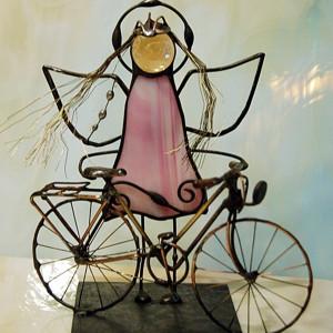 Aniołek rowerzystka