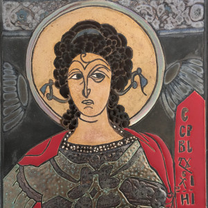 Archanioł Gabriel ikona ceramiczna