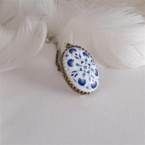Azulejo  naszyjnik owlany 1 ręcznie malowany