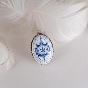 Azulejo  naszyjnik owlany ręcznie malowany
