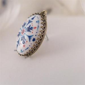 Azulejo  naszyjnik ręcznie malowana porcelana