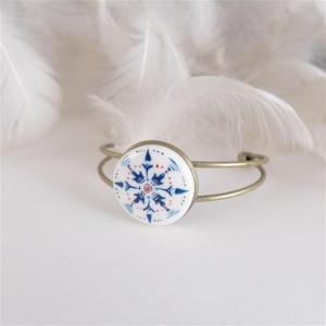 Azulejo bransoletka 1, ręcznie malowana porcelana