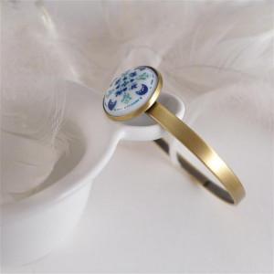 Azulejo bransoletka, ręcznie malowana porcelana
