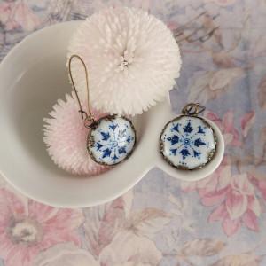 Azulejo, Kolczyki porcelanowe,