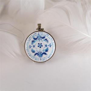 Azulejo naszyjnik2, porcelanowy