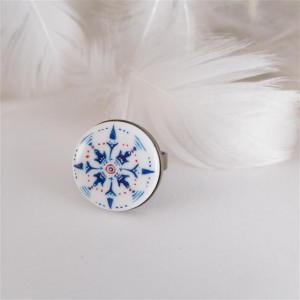 Azulejo pierścionek 1, ręcznie malowana porcelana