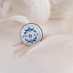 Azulejo pierścionek 2, ręcznie malowana porcelana
