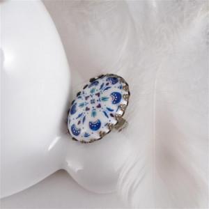 Azulejo serduszka, ręcznie malowana porcelana