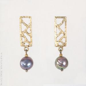 Ażurowe sztyfty z grafitowymi perłami