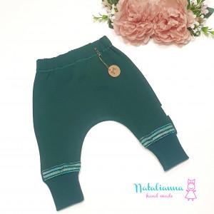 Baggy -spodnie z ozdobnymi nogawkami