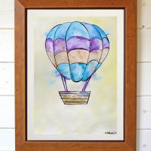 Balon I oryginalna akwarela