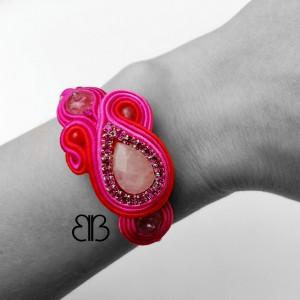 Bangle sutasz II - kwarc różowy