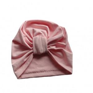 Bawełniana czapka turban patka jasny róż