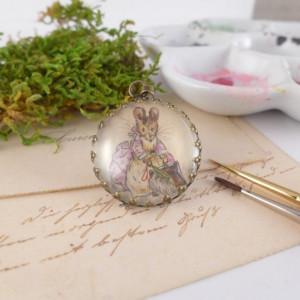 Beatrix Potter, myszka, ręcznie malowana