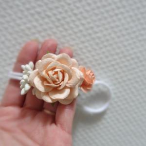 bezuciskowa opaska mini wianek kwiaty od narodzin