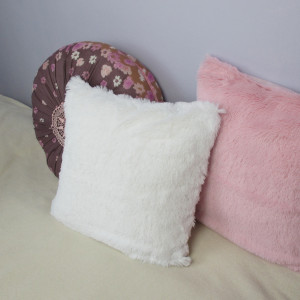Biała puszysta poszewka na poduszkę NA ZAMÓWIENIE