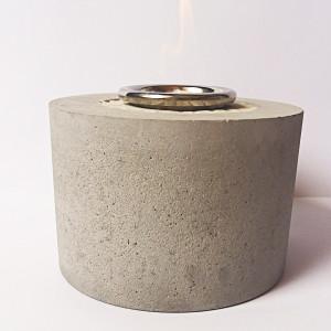Biokominek beton walec