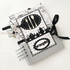 Black&white - przepiśnik, notes na przepisy