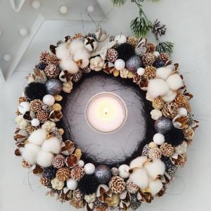 Black - wianek świąteczny