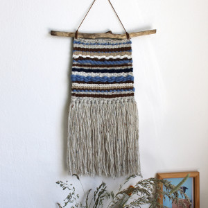 Błękitna makatka - ozdoba na ścianę
